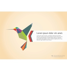 Abstract colibri vector