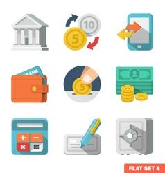 Money flat icon set vector