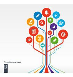 Abstract education background with icons vector