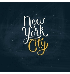 New york city concept on green board vector