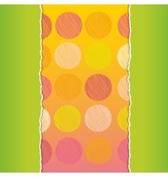Vintage card design polka dot background scribble vector