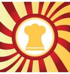 Chef hat abstract icon vector