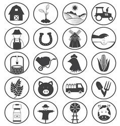 Farming icons collection vector