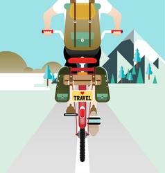 Cyclist riding bicycle vector