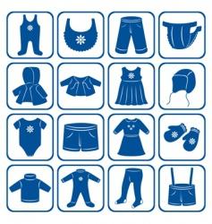 Child clothes set vector
