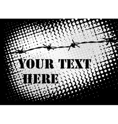 Barb wire background vector