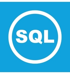 Sql sign icon vector