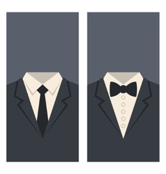 Business card with suits and ties design vector