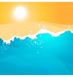Background with sea waves vector