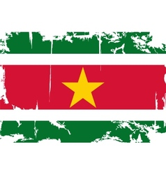 Surinam grunge flag vector