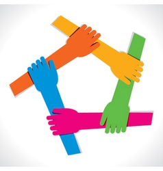 Colorful hand show unity vector