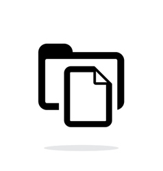 Folder with files icon on white background vector