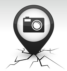 Photo icon in crack vector