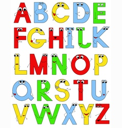 Funny latin alphabet vector