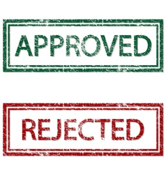 Approved rejected vector