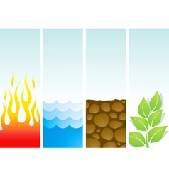 Four of the elements vector