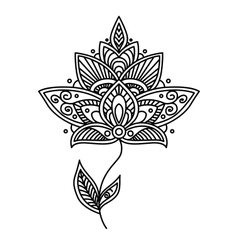 Ornate persian floral design element vector