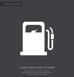 Petrol station premium icon vector