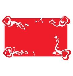 Valentine card decoration vector