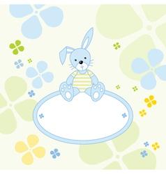Bunny rabbit background vector