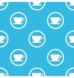 Cup sign blue pattern vector