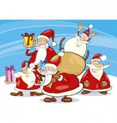 Santa claus group vector
