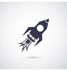Rocket icon isolated on background vector