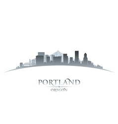 Portland oregon city skyline silhouette vector