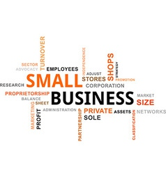 Word cloud small business vector