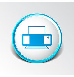 Printer icon document print fax vector
