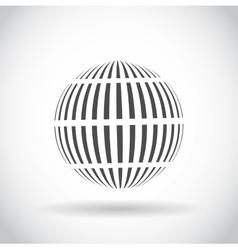 Abstract swirl sphere globe symbol vector