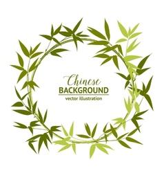 Green bamboo wreath vector