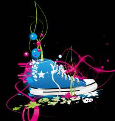 Sneakers gym-shoes vector