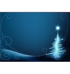 Blue abstract christmas tree vector
