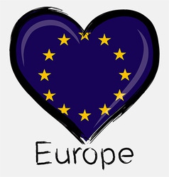 Love europe flag vector
