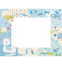 Child photo framework vector