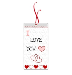I love you bookmark vector