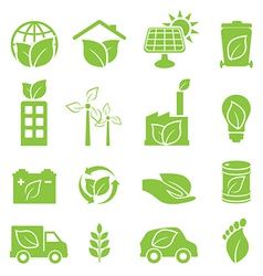 Eco friendly and environmental icons vector