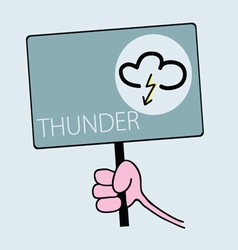 Panel for thunder weather vector