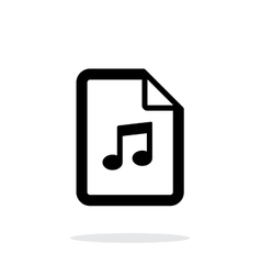 Audio file icon on white background vector
