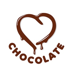 Logo chocolate in a heart shape vector
