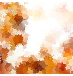 Autumnal leaf of maple and sunlight eps 10 vector