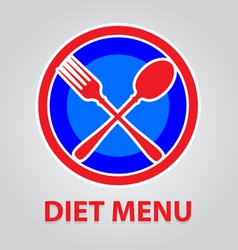 Diet menu vector