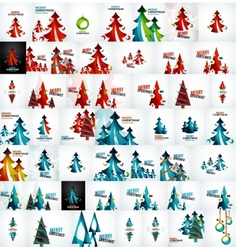 Large mega collection of christmas cards and vector