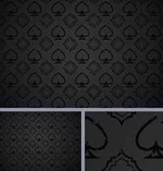 Black vintage poker spade distressed background vector