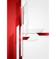 Red tech corporate background vector