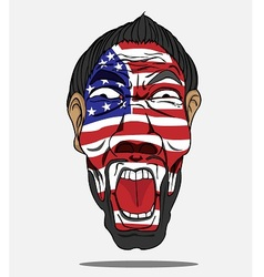 Football fan from usa vector
