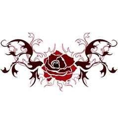 Red rose stencil vector