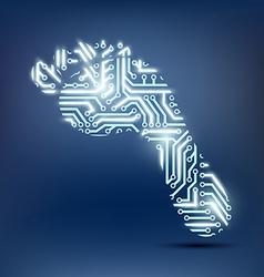 Footprint as a chip vector