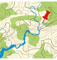 Abstract topographical map ve vector